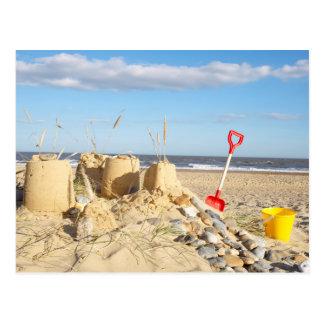 Sandcastle At Beach Postcard