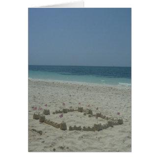 sandcastle bahamas card