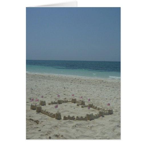 sandcastle bahamas greeting card