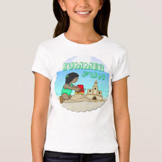 Sandcastle (Black Girl) Girl's T-Shirt