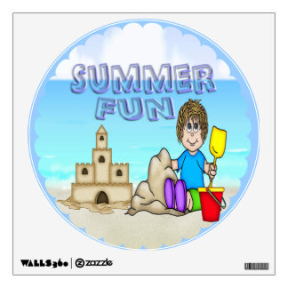 Sandcastle (Boy) Round Wall Decal