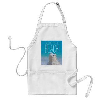 Sandcastle Coral Turquoise Sea Take Me to da Beach Adult Apron