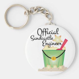 Sandcastle Engineer Basic Round Button Keychain