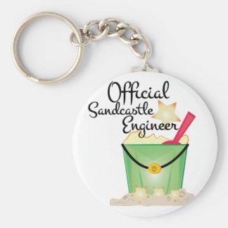 Sandcastle Engineer Keychain