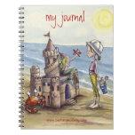 Sandcastle Journal Spiral Note Book
