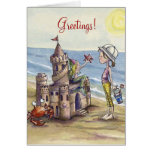 Sandcastle Magic notecard Stationery Note Card