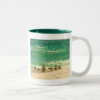 Sandcastle Memories Two-Tone Coffee Mug