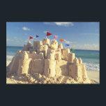 """Sandcastle On Beach Canvas Print<br><div class=""""desc"""">Sandcastle on beach</div>"""