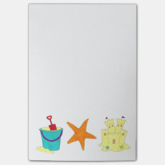 Sandcastle Shovel Pail Sand Starfish Beach Post-It Post-it Notes