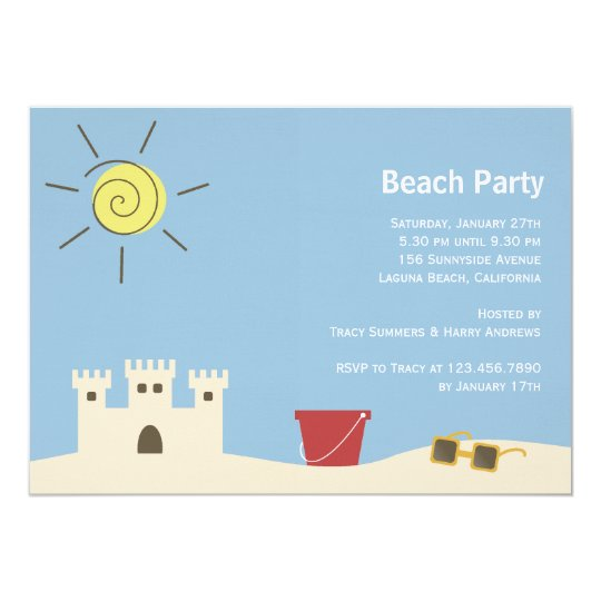 Sandcastle Summer Party Card