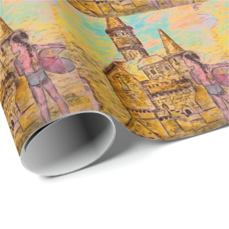 sandcastle wrapping paper