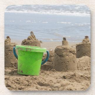sandcastles on the beach coaster