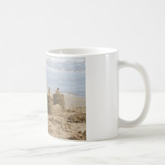 sandcastles on the beach coffee mug