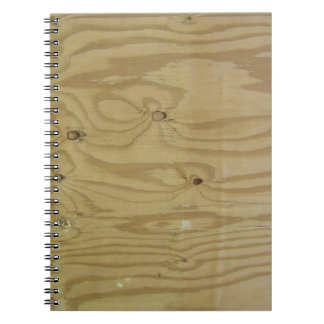 Sanded Wood Texture Background Notebook