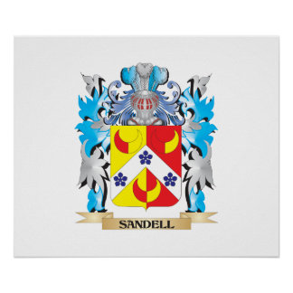 Sandell Coat of Arms - Family Crest Poster