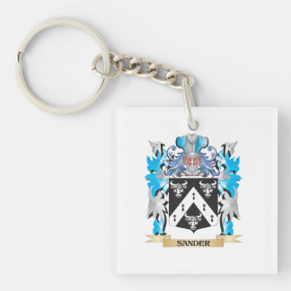 Sander Coat of Arms - Family Crest Square Acrylic Keychain