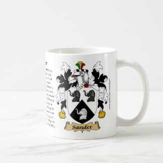 Sander, the Origin, the Meaning and the Crest Coffee Mug