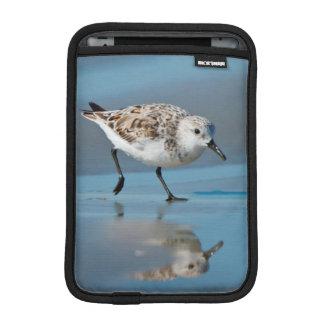Sanderling Calidris Albe Feeding On Wet Beach Sleeve For iPad Mini