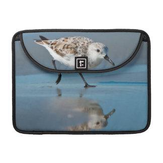 Sanderling Calidris Albe Feeding On Wet Beach Sleeve For MacBooks