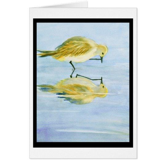 Sanderling Self Reflection Card
