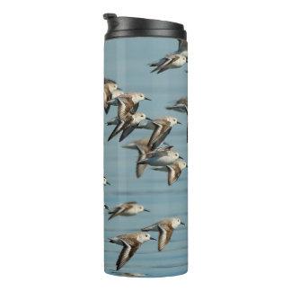 Sanderlings in Flight Thermal Tumbler