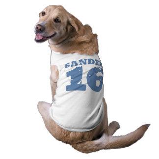Sanders 16 Uniform Number Dog Tee Shirt