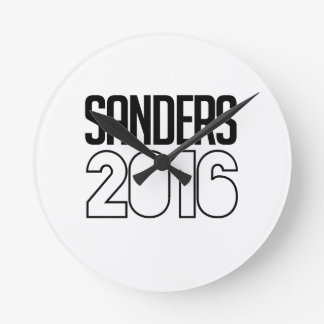 Sanders 2016 Bold Round Wallclock