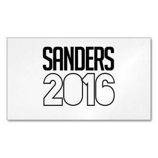 Sanders 2016 Bold Magnetic Business Cards (Pack Of 25)