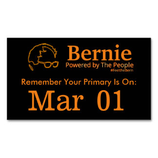 Sanders 2016 Powered by The People Business Card Magnet