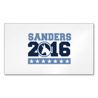 Sanders 2016 Round DNC Donkey Magnetic Business Cards (Pack Of 25)