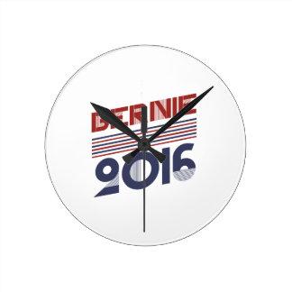 Sanders 2016 Vintage Campaign Style Round Wallclock