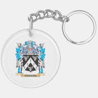 Sanders Coat of Arms - Family Crest Acrylic Key Chain