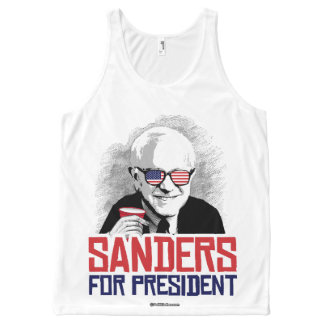Sanders For President - Party Animal - Political H All-Over Print Tank Top