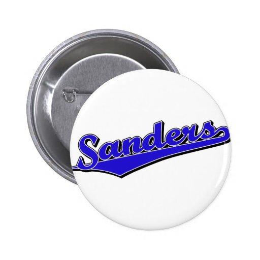 Sanders in Blue 2 Inch Round Button