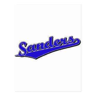 Sanders in Blue Postcard
