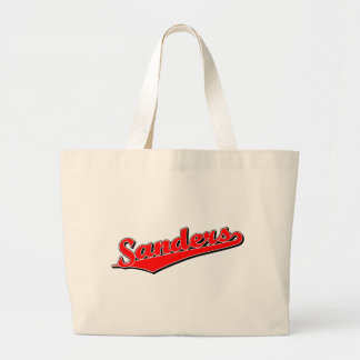 Sanders in Red Canvas Bags