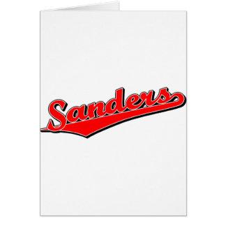 Sanders in Red Greeting Cards