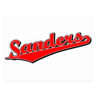 Sanders in Red Postcards