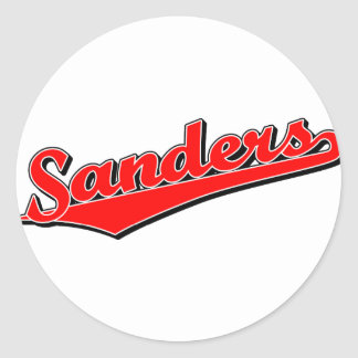 Sanders in Red Sticker