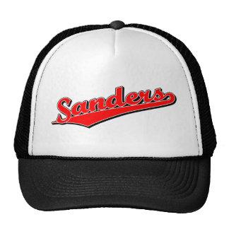 Sanders in Red Trucker Hats