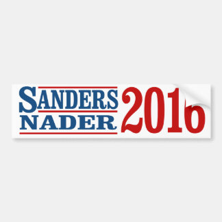 Sanders Nader 2016 - Bernie Sanders - .png Bumper Sticker