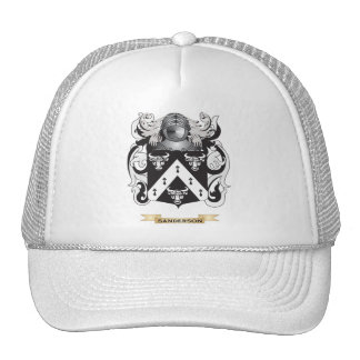 Sanderson Coat of Arms (Family Crest) Mesh Hats