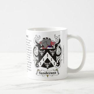Sanderson Family Coat of Arms Mug