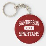Sanderson - Spartans - High - Raleigh Basic Round Button Keychain