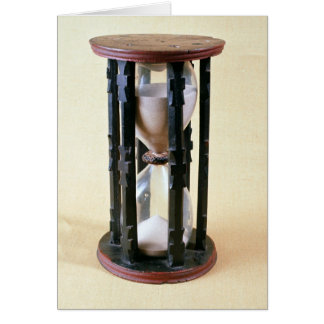 Sandglass, 17th century card