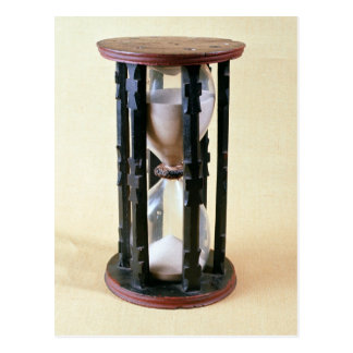Sandglass, 17th century postcard