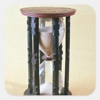 Sandglass, siglo XVII Pegatina Cuadrada