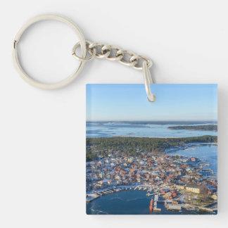 Sandhamn, archipiélago de Estocolmo, Suecia Llavero Cuadrado Acrílico A Una Cara