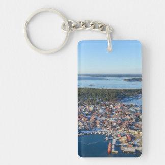 Sandhamn, archipiélago de Estocolmo, Suecia Llavero Rectangular Acrílico A Doble Cara