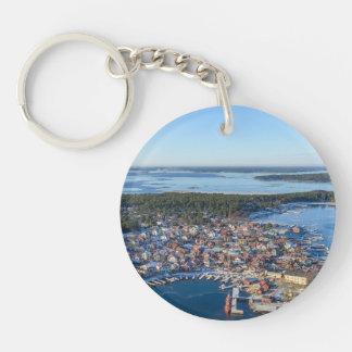Sandhamn, archipiélago de Estocolmo, Suecia Llavero Redondo Acrílico A Doble Cara
